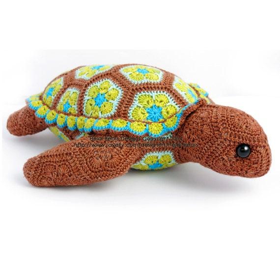 Atuin der afrikanischen Turtle-Blumenmuster häkeln | Etsy