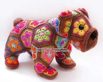 Max the African Flower Bulldog crochet pattern