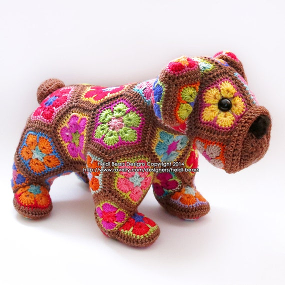 Max das Afrikanische Blume Bulldog häkeln Muster | Etsy