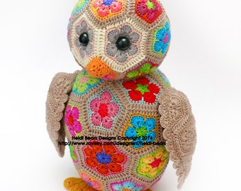 Aloysius the African Flower Owlet Crochet Pattern