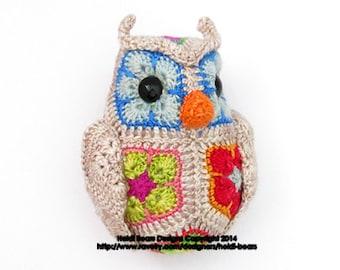Fat Little Owl African Flower Crochet Pattern