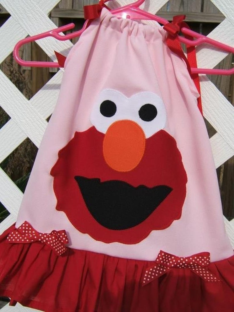 Boutique Appliqued Elmo Pink and Red Pillowcase Dress Buy Today I Ship Tomorrow!!! HOLIDAY SPECIALl!!