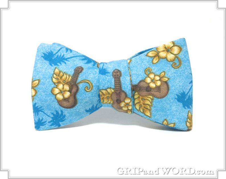 Freestyle Ukulele Hawaiian Shirt Bow Tie image 0