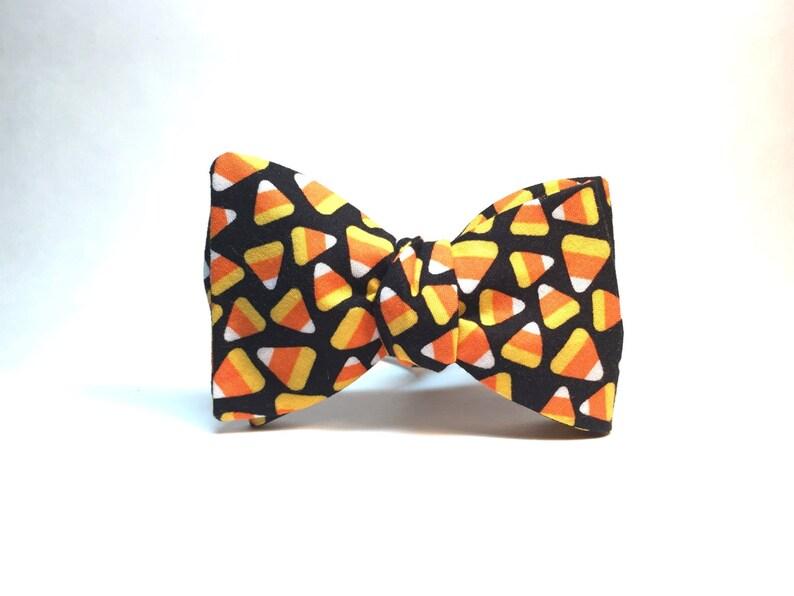 Candy Corn Halloween Bow Tie image 0