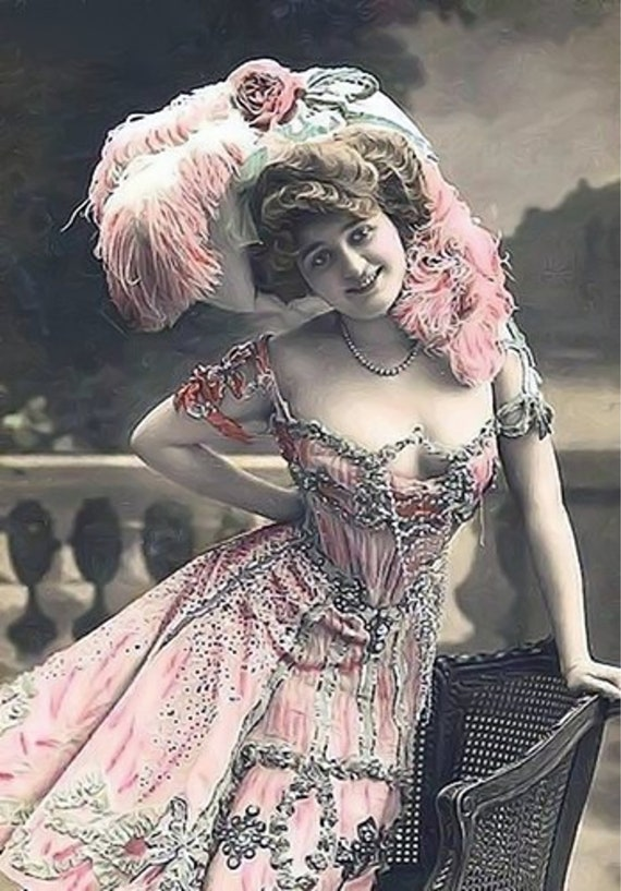 803fdc87b47 Pretty in Pink Note Card Proscenium Series Old Time Movie And
