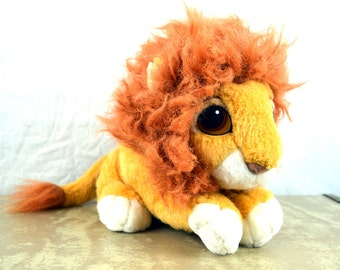 Cutest Vintage 1994 90s Lion King Simba Plush Cub Disney