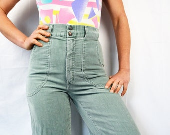best service 4fd47 3d7d2 Vintage Corduroy Cords 70s 1970s Bell Bottoms Bells - Time and Place
