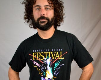 Vintage 1991 Kentucky Derby Festival Tee Shirt