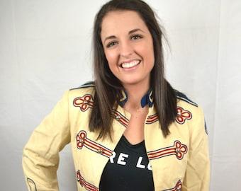 Vintage 1950s 50 Union Made Womens Band Uniform Jacket Costume Coat
