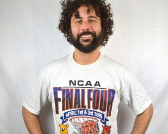 Vintage 1995 90s Seattle Final Four NCAA Tee Shirt Tshirt
