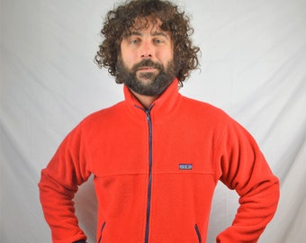 Vintage 80s Red Patagonia Fleece Pullover Jacket
