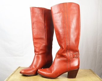 Amazing Vintage 1970s Tall Stacked Heel Boots  Thom McAnn