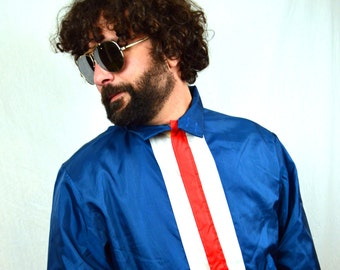Vintage 1970 Red White Blue Windbreaker Jacket