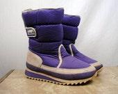 Vintage 80s Purple Ski Moon Boots - Pacific Trail - Size 9