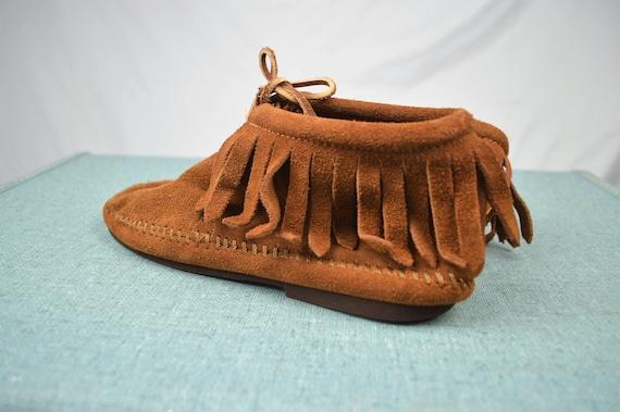 taille frange 1 Minnetonka 4 2 mocassins chaussons Vintage ISq6xwTUx