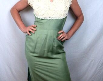 Gorgeous Vintage 1950s Lace BERNETTI Original Dress
