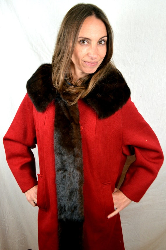 Fur Jacket and Coat 60s Wool Mink Red Holly 1950s Vintage Gab wBq8Yc