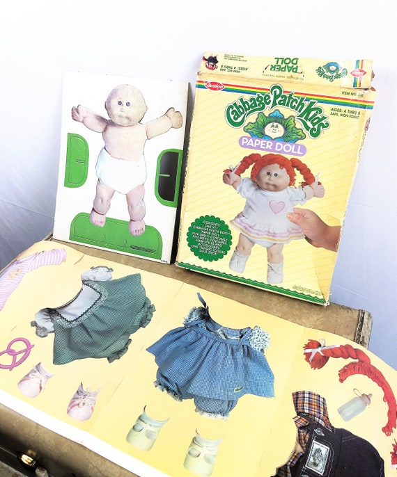 Vintage 80s 1980s 1983 Cabbage Patch Kids Paper Do