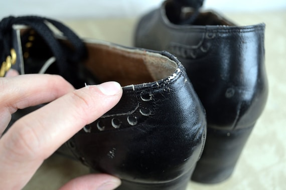 RARE Vintage 60s 70s Amazing Chunky Shoes - Grung… - image 4