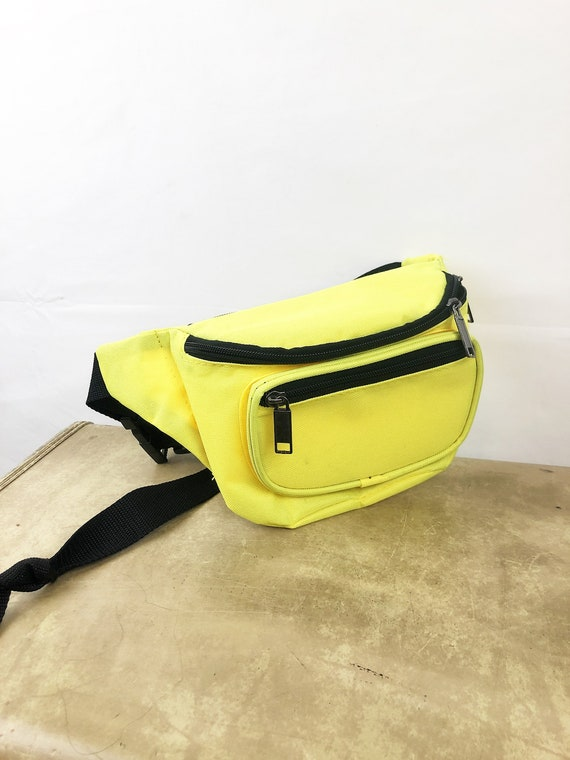 Vintage 90s Neon Yellow Fanny Pack