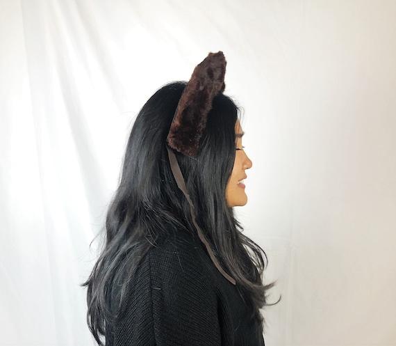 Vintage 1960s 50s Fur Mink Crown Headband Fascina… - image 2