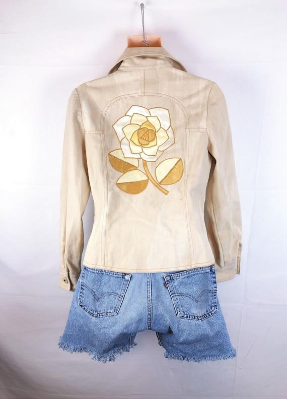 Vintage 70s Roncelli Appliqued Brushed Cotton Jack