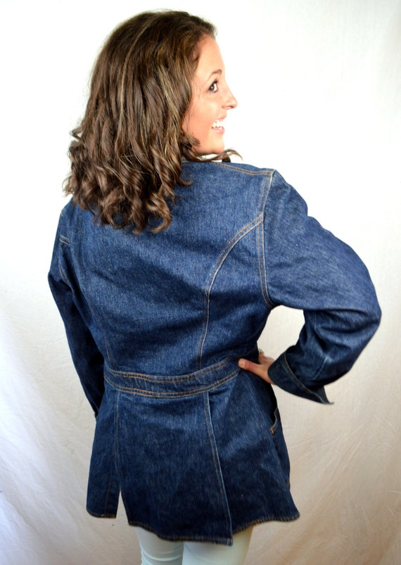 Vintage Tag Levis Orange Jacket Coat Dark Blazer Wash 70s AHqr5xwAn