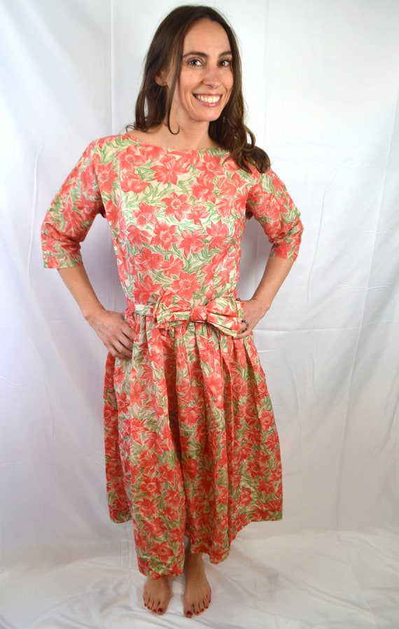 Lovely Vintage 1950s 50s Floral Mode O Day - Day D