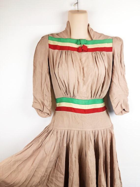 Amazing Vintage 1940s 40s Rayon Dress - image 2
