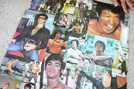 Vintage Bruce Lee Collectible Poster
