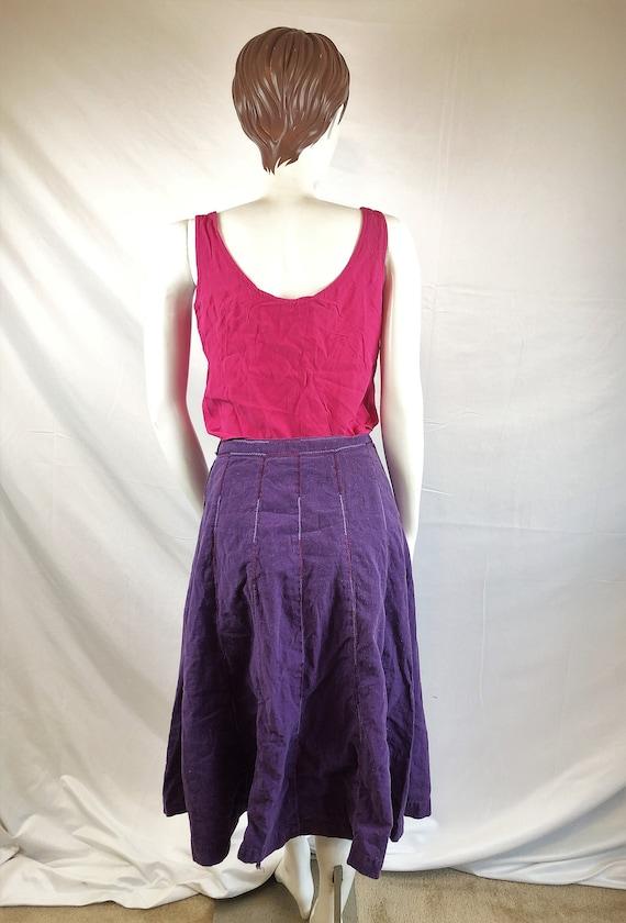 Vintage 1970s India Cotton Hippie Ethnic Purple Sk