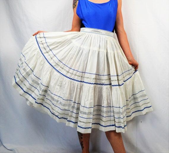Vintage 1950s Skirt - Squaw Patio Rockabilly Ric R