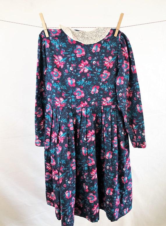 Vintage Girl's Size 90s Laura Ashley Floral Dress - image 4