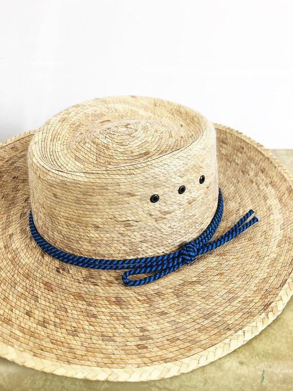 Vintage Summer Woven Straw Sun Hat - image 3