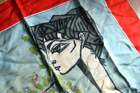 Vintage des années 1940 RARE Picasso foulard en soie Mme Z   Etsy a8b96ec4194