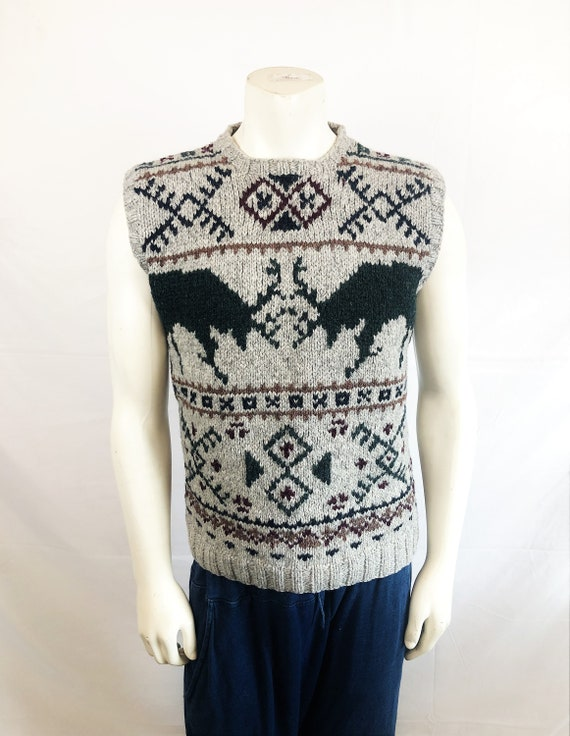 Vintage Southwest Ralph Lauren Wool Knit Sweater V