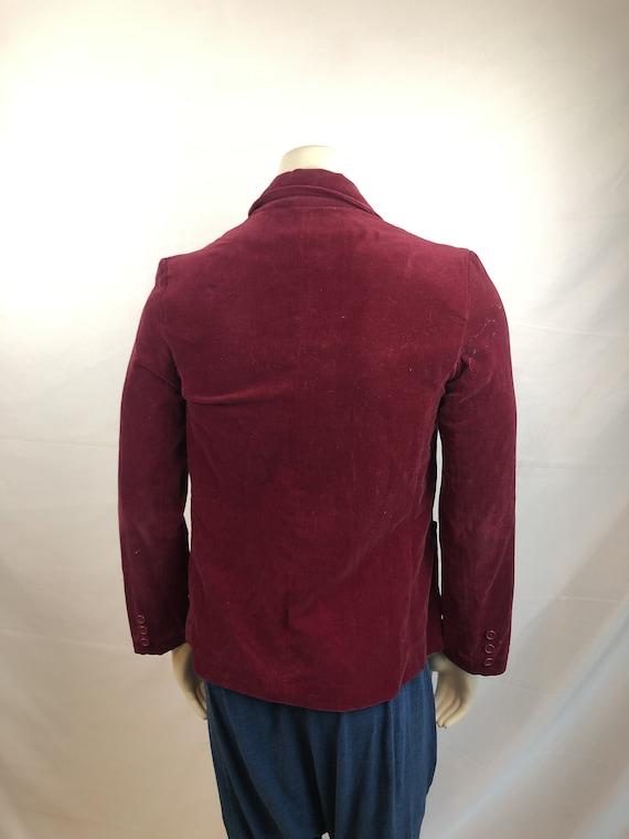 Vintage 1980s 80s Red Velvet Party Jacket Blazer … - image 4