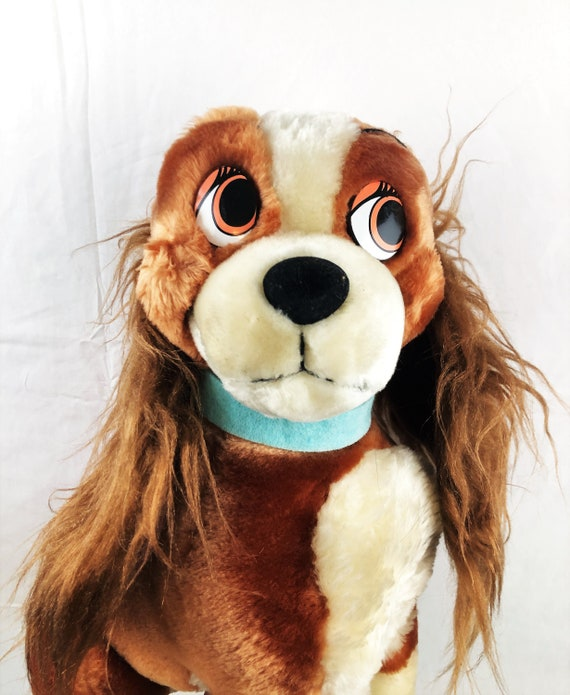 Vintage 90s Lady and the Tramp Disney Plush