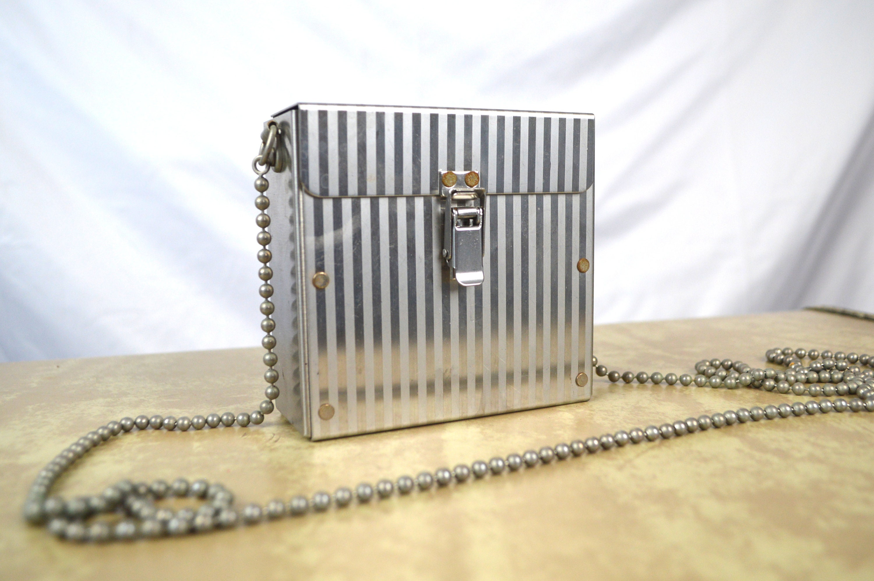 7ba1f3beed05 Vintage Authentic WENDY STEVENS Stainless Steel Crossbody