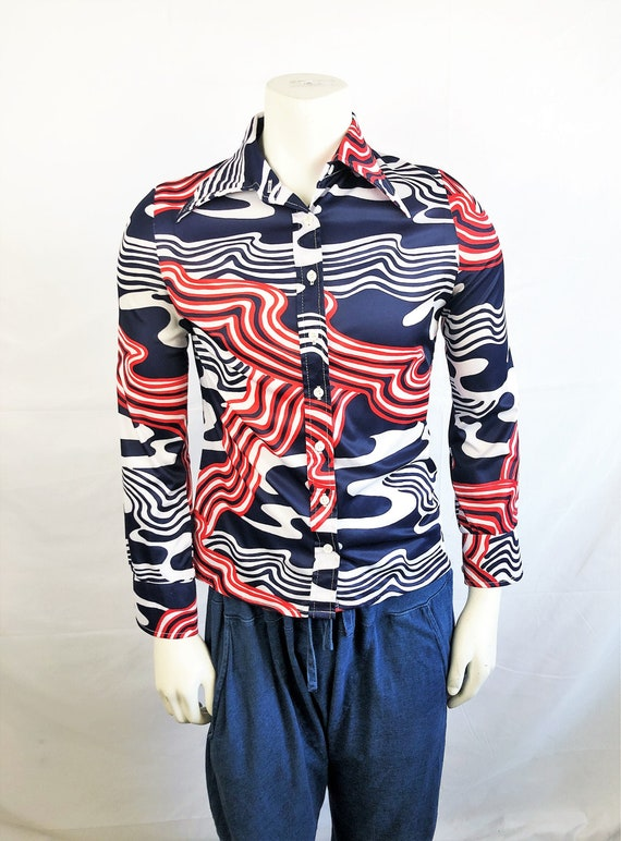 Made in USA Act III Vintage 1990s Plus Size Button Down Blouse