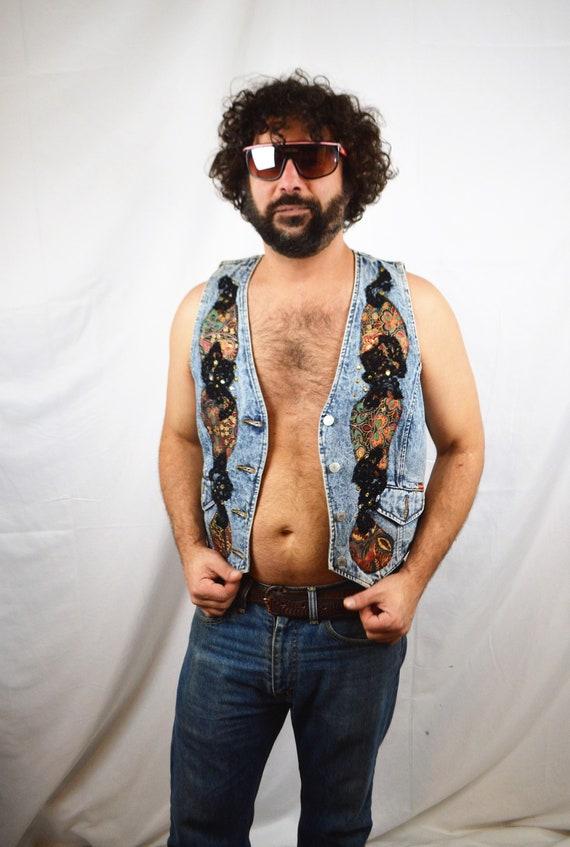 Vintage 1980s Acid Wash Denim Vest - Jordache