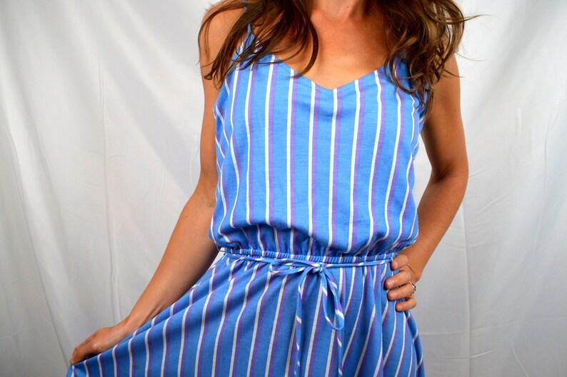 8d14d764f27 Cutest 70s 80s Striped Rainbow Pastel Summer Dress