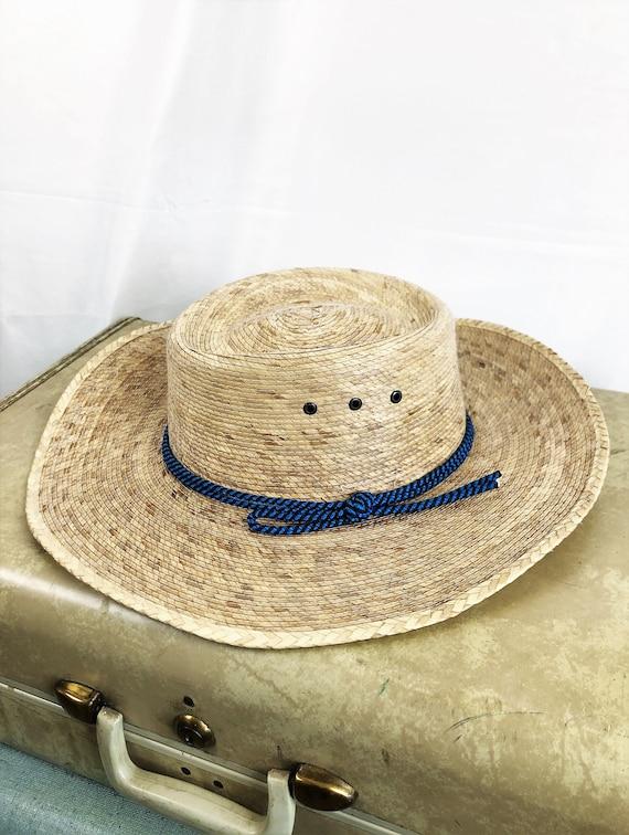 Vintage Summer Woven Straw Sun Hat - image 2