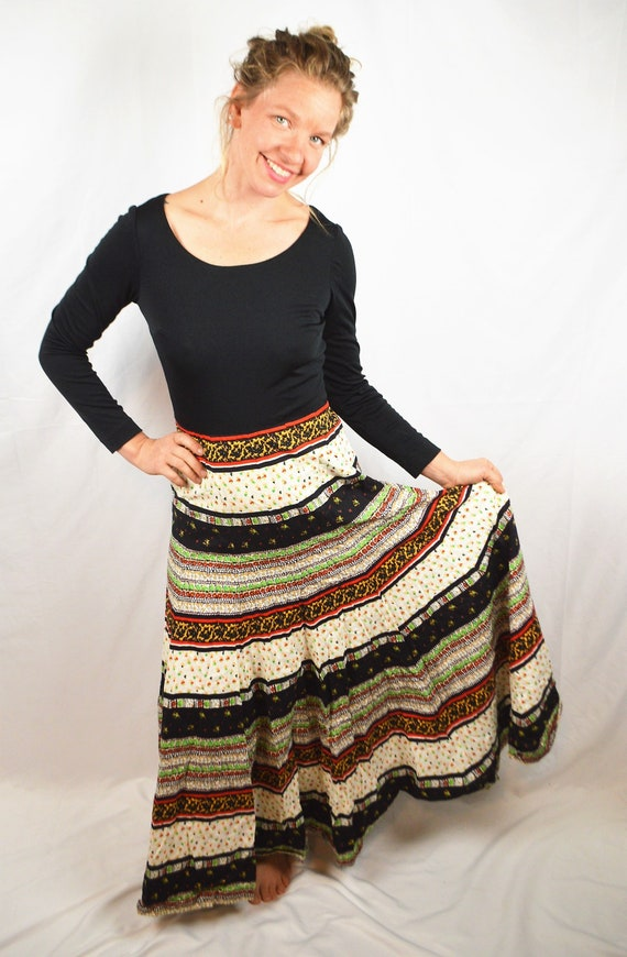 Miss Elliette Amazing 1960s Patchwork Hippie Maxi… - image 1