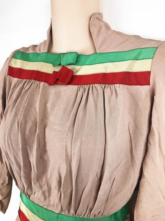 Amazing Vintage 1940s 40s Rayon Dress - image 5