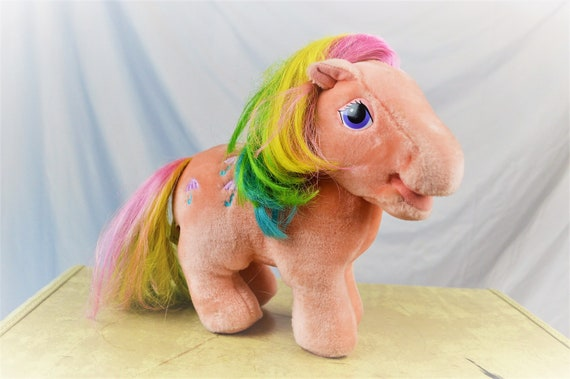 Vintage My Little Pony Plush Stuffed Animal Hasbro Softies Etsy