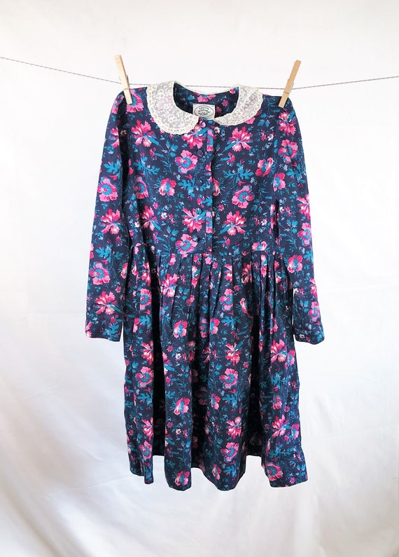 Vintage Girl's Size 90s Laura Ashley Floral Dress - image 1