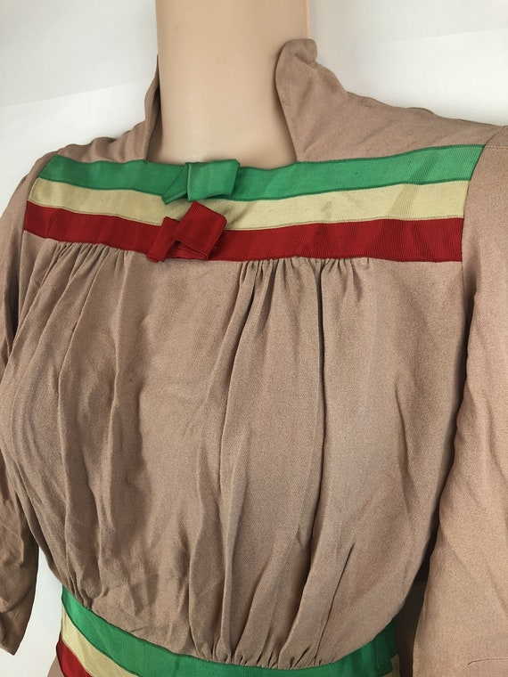 Amazing Vintage 1940s 40s Rayon Dress - image 6