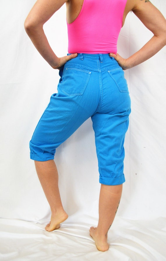 Vintage 50s Jeanies Blue Bell Side Zip Bright Jean