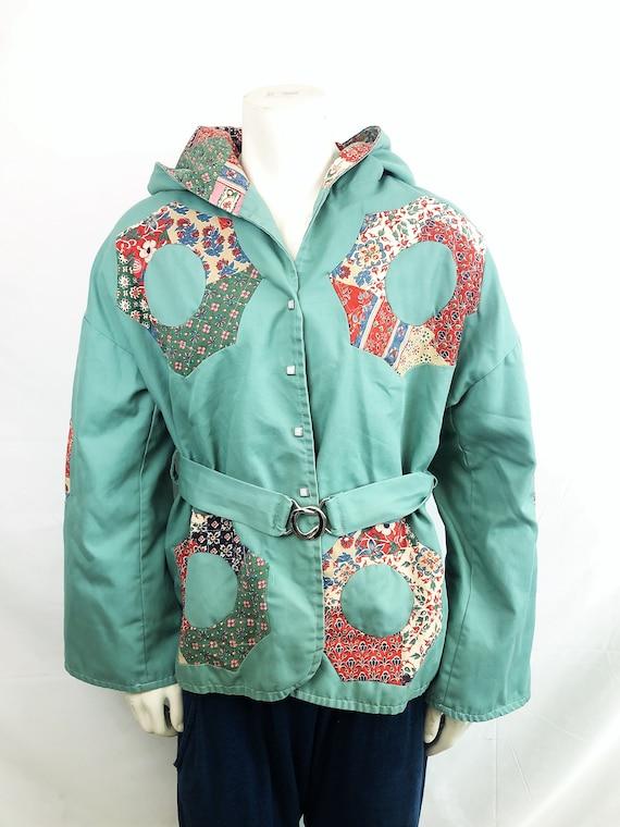 Vintage 1970s 70s Belted Jacket - Bottom Line - Qu